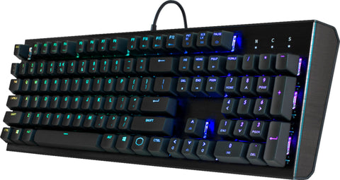 Cooler Master - CK552 Wired Gaming Mechanical Gateron Red Switch Keyboard with RGB Back Lighting - Pure Black