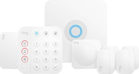Ring Alarm 8-Piece Home Security Kit - White