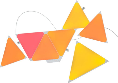 Nanoleaf Shapes - Triangles Smarter Kit (7 panels) - Multicolor