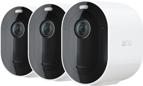 Arlo – Pro 4 Spotlight Camera, Wire-Free Security Camera with Color Night Vision (3-pack) - White