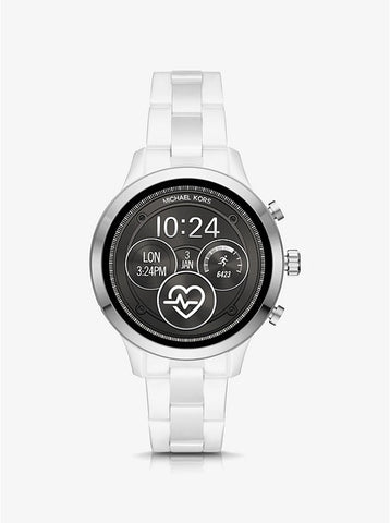 MICHAEL KORS ACCESS - Runway Silver-Tone and Ceramic Smartwatch - MKT5050