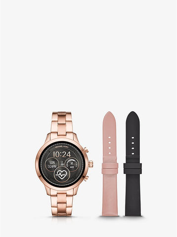 MICHAEL KORS ACCESS - Runway Heart Rate Rose Gold-Tone Smartwatch Set - MKT5054