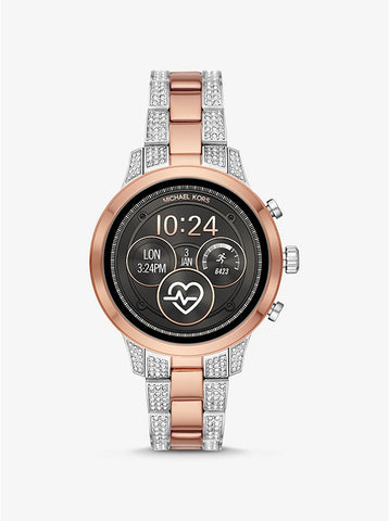 MICHAEL KORS ACCESS - Heart Rate Pavé Two-Tone Smartwatch - MKT5056