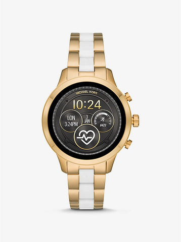 MICHAEL KORS ACCESS - Runway Gold-Tone and Silicone Smartwatch - MKT5057