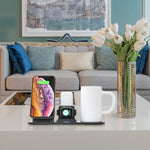 5-in-1 Wireless Charging Station With Mug Heater (N39)