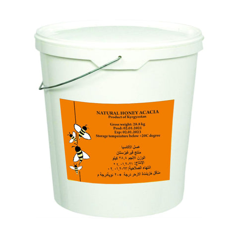 Acacia Honey, 28.8 kg, (Wholesale)