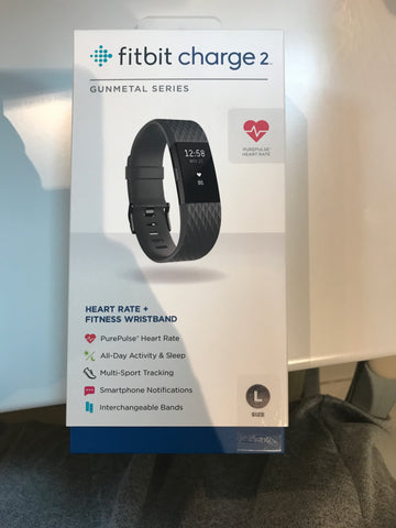 Fitbit charge 2 gunmetal series size l