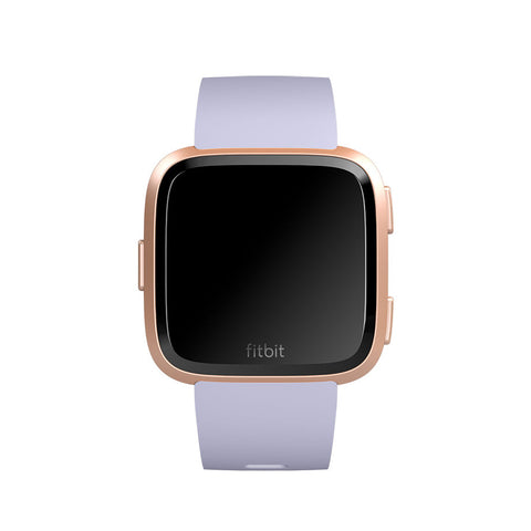 Fitbit Versa - Periwinkle/Rose Gold Aluminum Smart Watch