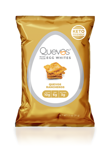 Quevos Rancheros Keto Egg White Chips