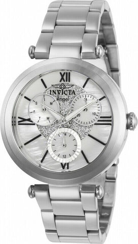 Invicta Women's Angel Quartz Stainless-Steel Strap, Silver, Casual Watch (Model: 28924)
