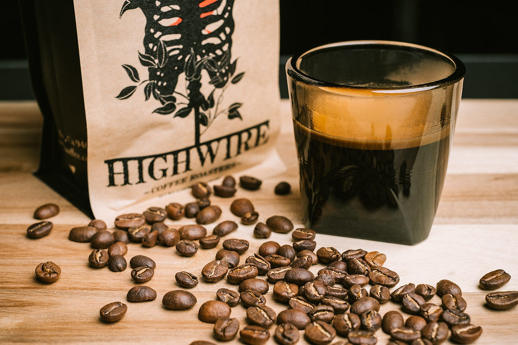"Highwire espresso ""the Core"" is a medium roast"