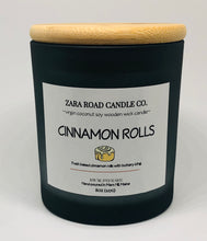 Load image into Gallery viewer, Cinnamon Rolls Spiral Wooden Wick Coconut Wax Candle