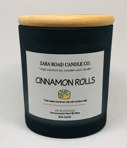 Cinnamon Rolls Spiral Wooden Wick Coconut Wax Candle