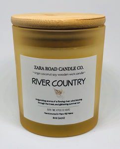 River Country Spiral Wooden Wick Coconut Wax Candle