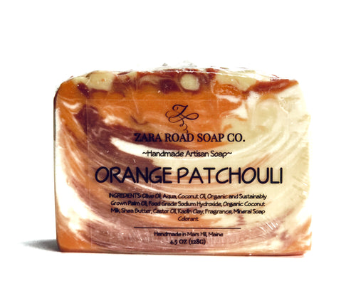 Orange Patchouli Handcrafted Soap