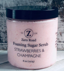 Strawberries & Champagne Foaming Sugar Scrub