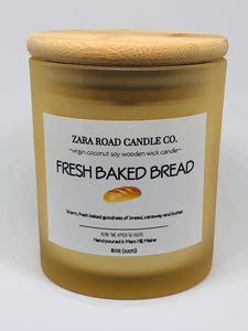 Fresh Baked Bread Spiral Wooden Wick Coconut Wax Candle