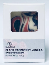 Load image into Gallery viewer, Black Raspberry Vanilla Artisan soap