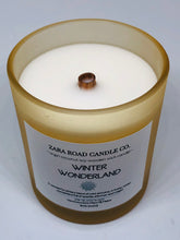 Load image into Gallery viewer, Winter Wonderland Spiral Wooden Wick Coconut Wax Candle