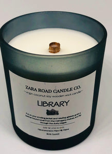 Library Spiral Wooden Wick Coconut Wax Candle
