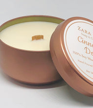 Load image into Gallery viewer, Virgin Coconut & Soy Wax Wooden Wick Candle Tin