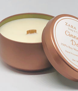 Virgin Coconut & Soy Wax Wooden Wick Candle Tin
