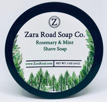 Load image into Gallery viewer, Rosemary & Mint Shave Soap