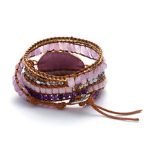 Load image into Gallery viewer, Crown Chackra Amethyst Bracelet
