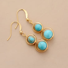 Load image into Gallery viewer, Turquoises Dangle Earrings