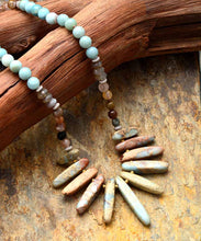 Load image into Gallery viewer, Mixed Natural Stones Handmade Necklace
