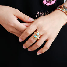 Load image into Gallery viewer, Turquoises Cocktail Ring