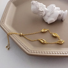Load image into Gallery viewer, Gold Plated Sterling Silver 925 Shell Bracelet