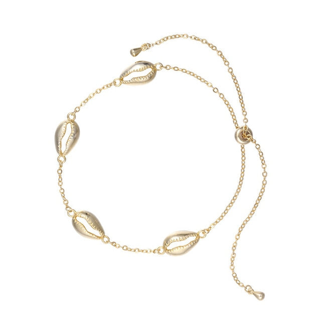 Gold Plated Sterling Silver 925 Shell Bracelet