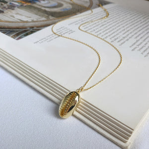 Gold Plated Sterling Silver 925 Shell Necklace