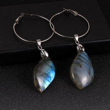 Load image into Gallery viewer, Healing Labradorite Drop Earring