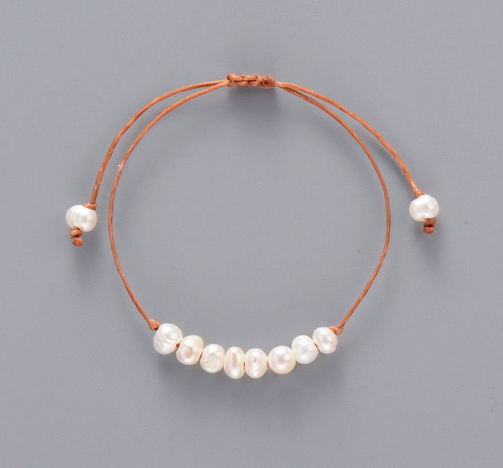Freshwater Pearl Leather Bracelet