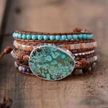 Load image into Gallery viewer, Natural Ocean Jasper Beaded Bracelet