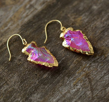 Load image into Gallery viewer, Natural Quartz Earrings