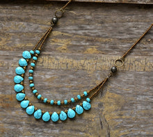 Load image into Gallery viewer, Turquoise and Seed Beads Necklace