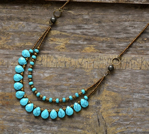 Turquoise and Seed Beads Necklace