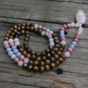 Love and Rose Quartz Necklace