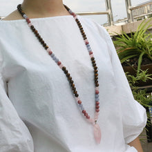 Load image into Gallery viewer, Love and Rose Quartz Necklace