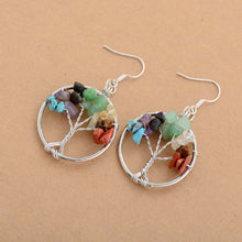 Load image into Gallery viewer, Tree of Life Chakra Earrings