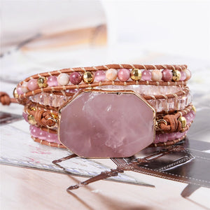 Love Chakra Rose Quartz Wrap Bracelet