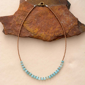 Amazonite Seed Beads Necklace