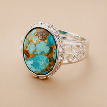 Load image into Gallery viewer, Natural Turquoises Cocktail Ring