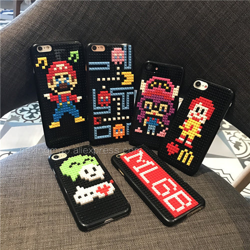 LEGO Style Funny Bricks Shockproof Cute Case for iPhone