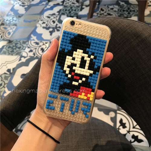 LEGO Style Cartoon Bricks Shockproof Cute Case for iPhone