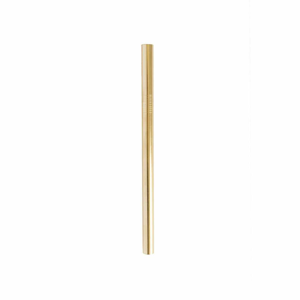 Gold 12 mm smoothie stainless steel straw.