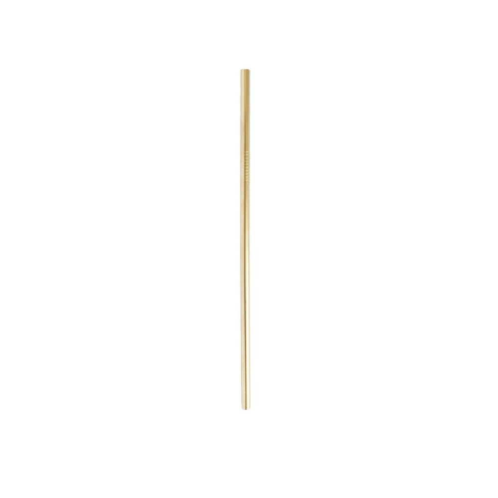 Gold stainless steel straw // straight